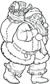 Santa Coloring Pages Pdf Printable Big Presents Difficult Christmas For Adults Online Full Size