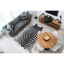 me gusta fellteppich desert 100 fellförmig 19 mm höhe kunstfell zebra design wohnzimmer