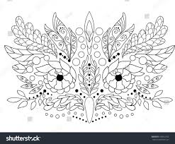Owl In Boho Style Herbs And Flowers Decorative Design For Coloring Book Adults