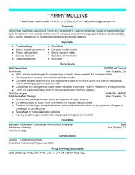 Best Web Developer Resume Example | LiveCareer 9 Career Summary Examples Pdf Professional Resume 40 For Sales Albatrsdemos 25 Statements All Jobs General Resume Objective Examples 650841 Objective How To Write Good Executive For 3ce7baffa New 50 What Put Munication A Change 2019 Guide To Cosmetology Student Templates Showcase Your
