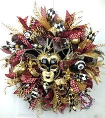 Mardi Gras Mask Door Decoration by Deco Mesh Mardi Gras Wreath Mardi Gras Decor Jester Mask Wreath