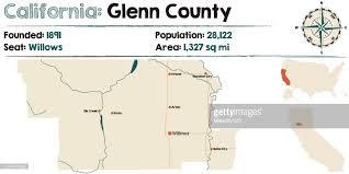 California Glenn County Map Vector Art