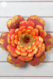 Learn How To Make Giant Red And Gold Paper Flowers We Worked With Vibrant Shades