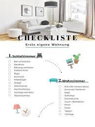 erste eigene wohnung einrichten checkliste ideen tipps