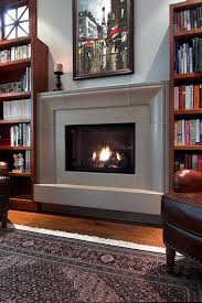 Living Room With Fireplace And Bookshelves by Fireplace Modern Fireplace Surrounds Ideas With Wooden Flooring
