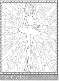 Ballet Printable Coloring Pages For Adults Girl Tutu PDF JPG