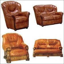 canapé cuir et bois rustique salon cuir et bois prix et produits avec le guide shopping kibodio