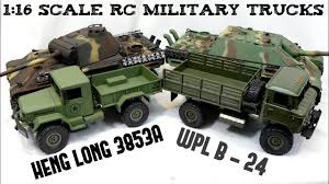 100 Rc Army Trucks SCALE RC MILITARY TRUCKS Heng Long 3853A WPL B24 116