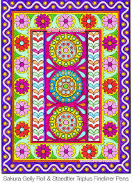 Indian Pattern Coloring Page From The Folk Art Book By Thaneeya McArdle