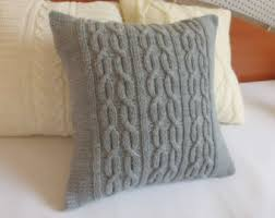 Custom Gray Decorative Cable Knit Pillow Cover Throw Charcoal Case Hand Cushion Home Decor USD By Adorablewares