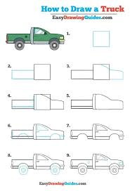 100 How To Draw A Truck Step By Step To A Really Easy Ing Tutorial To Man