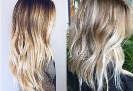 Mid Length Blonde Balayage Hair Colors 2017 Summer