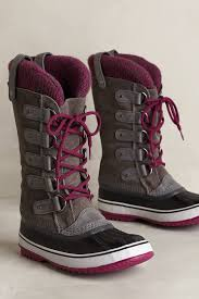 sorel joan of arctic knit boot in brown lyst