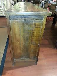 2 Of 9 Barnwood Rustic Style Reclaimed Wood Media Center TV Stand