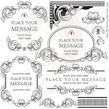 Baroque Frame Clipart Formal Border Classic Designs Elegant Wedding Swirl Floral Graphic Vintage Decorative Ornaments Digital