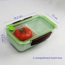 Divider Adjustable Bento Box For Kids Lunch With Clear Lid Two Side Clip Close