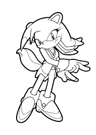 Amy Rose Sonic Coloring Pages