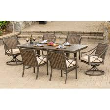 davenport collection 7 piece outdoor patio dining set rc willey