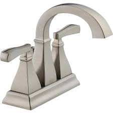Delta Bronze Bath Faucet by Shop Delta Olmsted Stainless 2 Handle 4 In Centerset Watersense