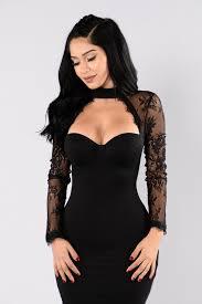 case of lace dress black