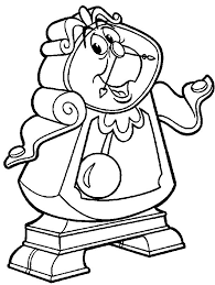 Cogsworth Beauty And The Beast Color Page Disney Coloring Pages Plate Sheetprintable Picture