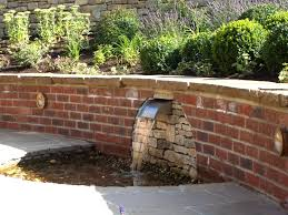 Brick Garden Wall Designs   Water Water Everywhere   Pinterest ... Ndered Wall But Without Capping Note Colour Of Wooden Fence Too Best 25 Bluestone Patio Ideas On Pinterest Outdoor Tile For Backyards Impressive Water Wall With Steel Cables Four Seasons Canvas How To Make Your Home Interior Looks Fresh And Enjoyable Sandtex Feature In Purple Frenzy Great Outdoors An Outdoor Feature Onyx Really Stands Out Backyard Backyard Ideas Garden Design Cotswold Cladding Retaing Water Supplied By