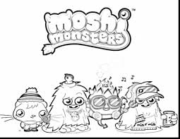 Astounding Moshi Monsters Coloring Pages With Monster Page And To Print