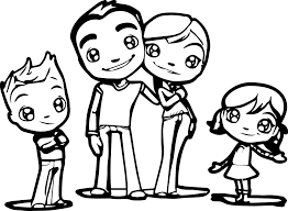 Family Coloring Page Free Download Pages Print 3570 Online