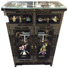 Broyhill Brasilia Magna Dresser by Asian Embossed Black Lacquer Bar Cabinetbuffet 9109