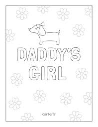 Daddys Girl Color Sheet