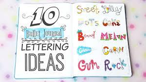 10 BULLET JOURNAL HANDWRITING IDEAS Easy Lettering & Font