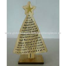 China Wooden Christmas Table Decoration Tree Shelf For Gifts