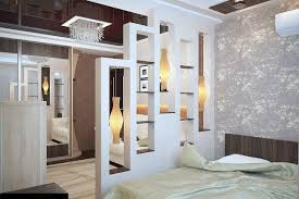 Accent Walls And Bedding With Decorative Partition Wall Ideas Also White Sofa Mirrored Chandelier