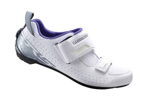 Shimano Women's Sh-tr5 Triathlon Bike Shoes - White, 6.5 USW