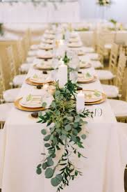 Example Of Loose Greenery Runner Head Table