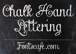Chalk Hand Lettering the original vintage blackboard font