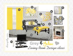 Yellow And Gray Bedroom Ideas by Yellow And Grey Living Room Interior Design Idea Inspiration Gray