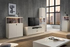 quadrato wohnzimmer modena weißer lack massives altholz