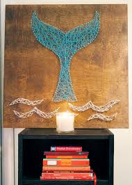 DIY Whale Or Mermaid Tail String Art