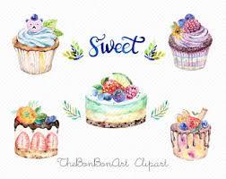 watercolor clipart watercolor cake Bakery Clipart cupcake clipart Wedding Cakes Clipart
