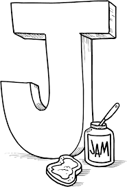J For Jam Coloring Pages