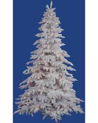 Vickerman Flocked White Spruce Clear Pre Lit LED Christmas Tree