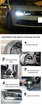 visual guide to show you how to install led daytime running