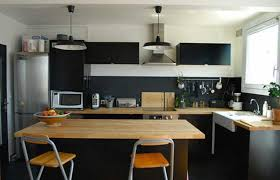 cuisine blanc et noir beau cuisine noir et bois collection avec cuisine noir et blanc