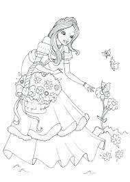 Printable Princess Coloring Pages Disney Ariel Dress Baby Colouring Sheets Full Size