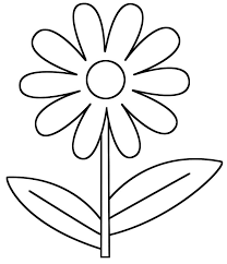 This Flower Coloring Page Features A Picture Of Large To Color The Is Printable And Can Be Used In Classroom Or At Home