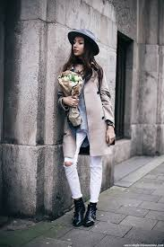 White Jeans Are Always A Winner Especially When Worn With Edgy Combat Boots And