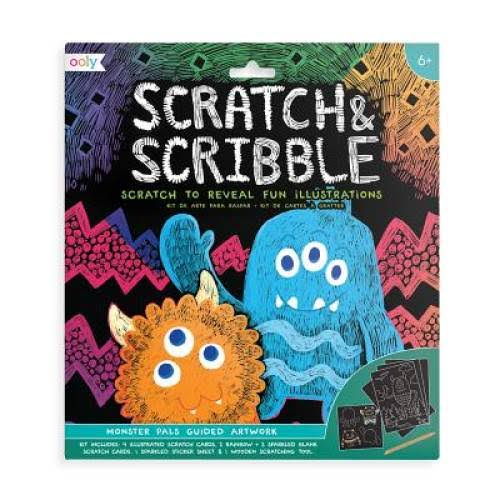 Ooly Scratch & Scribble Art Kit - Monster Pals