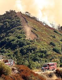 Santa Cruz Summit Christmas Tree Farm by Loma Fire Fully Contained