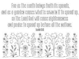 Spring Bible Verse Coloring 1
